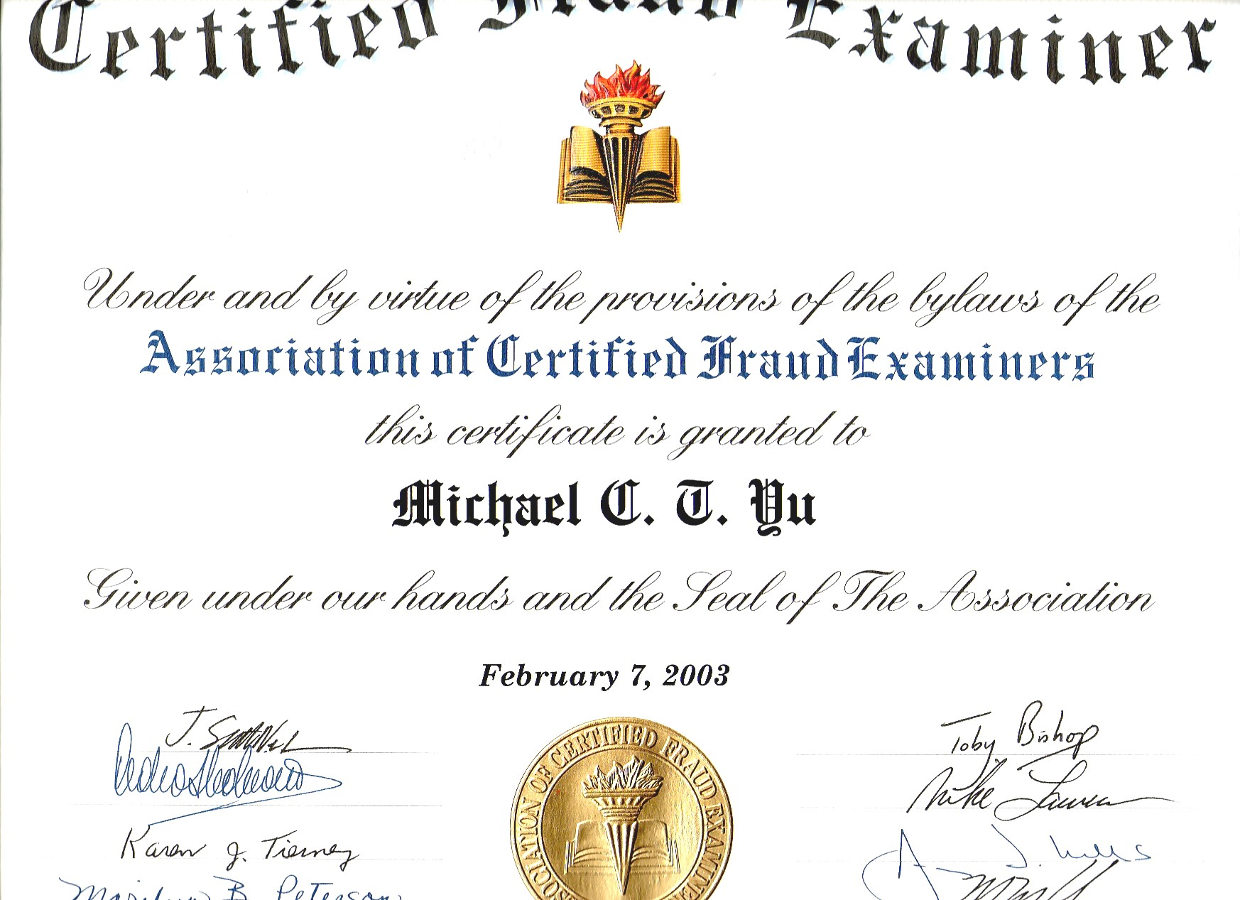 Elegant Collection Of Cfe Certification - Business Cards ...